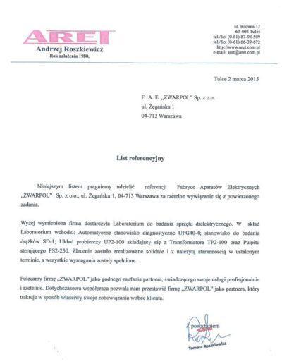 List-referencyjny-ARET
